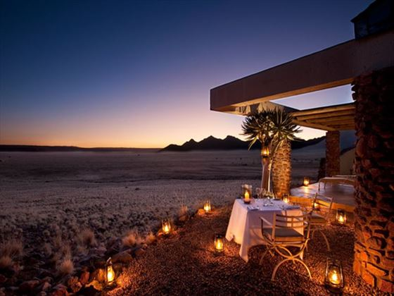 Sossusvlei Desert Lodge at night