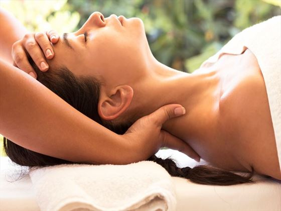 Indulge with a spa treatment at a luxury hotel