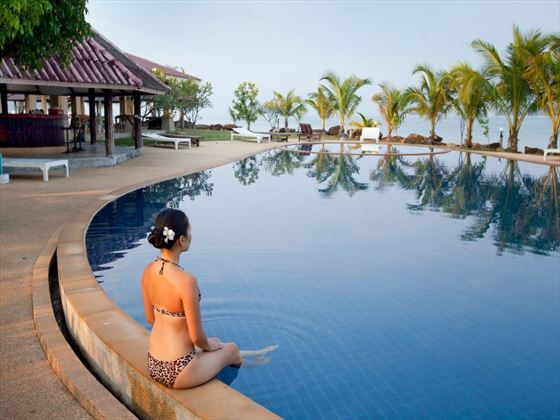 Unwind by a glistening pool in Thailand