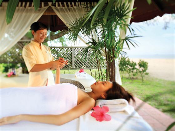 Spa treatment at Meritus Pelangi Beach Resort & Spa