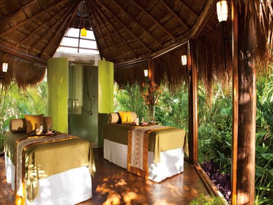Spa treatment room at Dreams Tulum