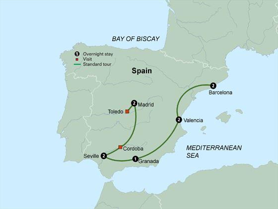 Spain's Classics itinerary