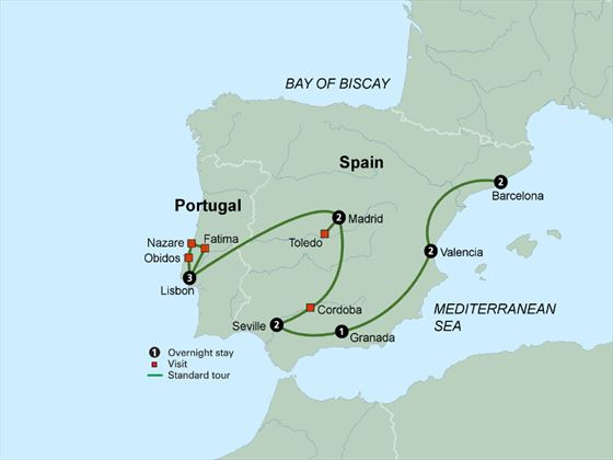 Spain's Classics and Portugal itinerary