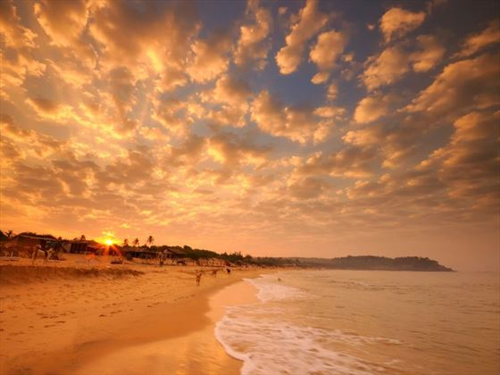 Sunrise on a beach in Goa
