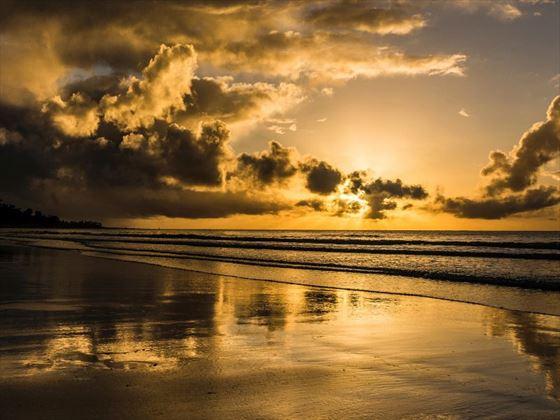 Sunrise over Aitutaki