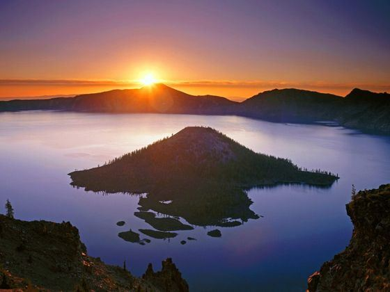 Crater Lake and Wizard Island, Crater Lake National Park