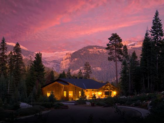 Sunset at Wuksachi Lodge, Sequoia National Park
