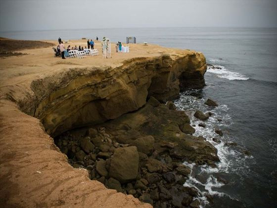 Sunset Cliffs, a beautiful cliff side park located near Ocean Beach