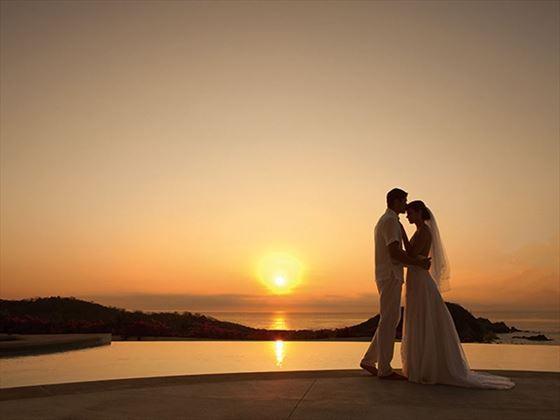 Bride & Groom at sunset, Secrets Cap Cana Resort & Spa