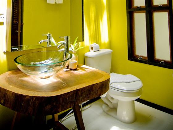 Superior Bungalow bathroom at Peace Resort Samui