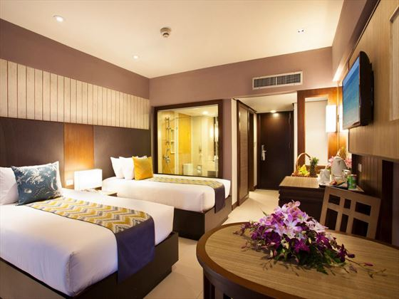 Superior twin room at Patong Merlin Hotel