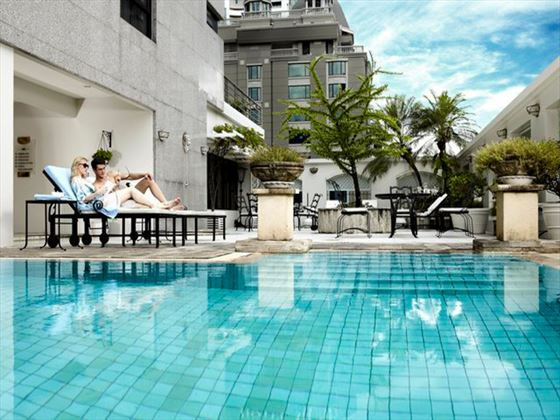 Swimming pool at Cape House Langsuan Serviced Apartments