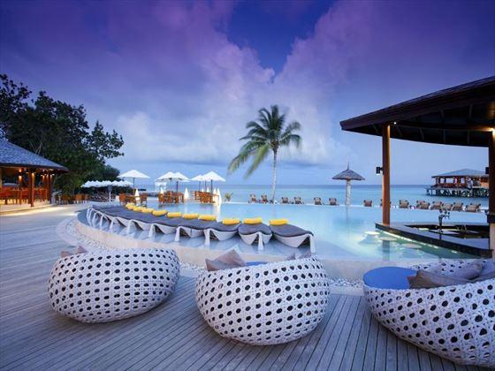 Swimming pool at Centara Ras Fushi Resort & Spa