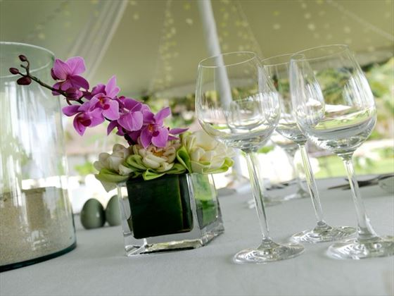 Table settings at The Surin