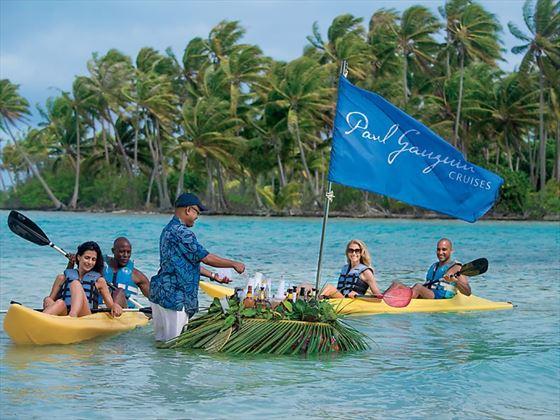 Floating bar in Bora Bora