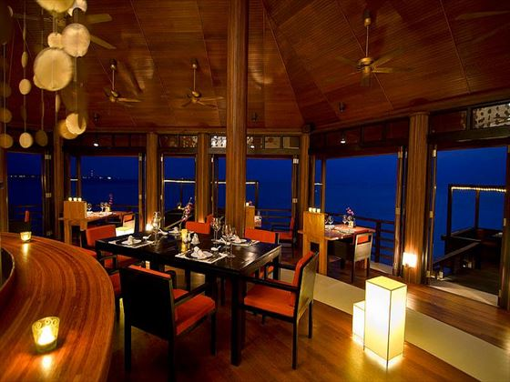 Tamarind restaurant at Lily Beach Resort & Spa