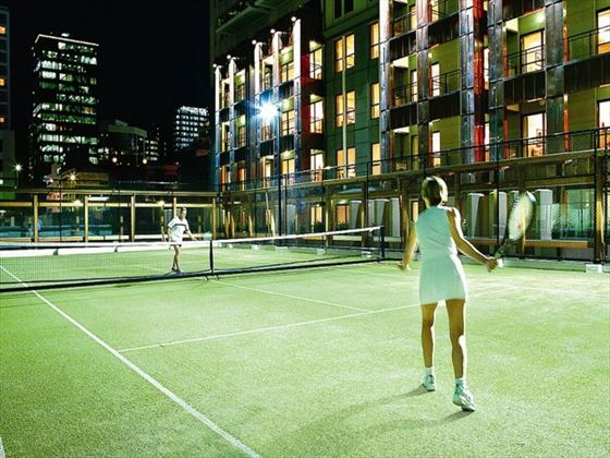 Tennis court at Heritage Auckland