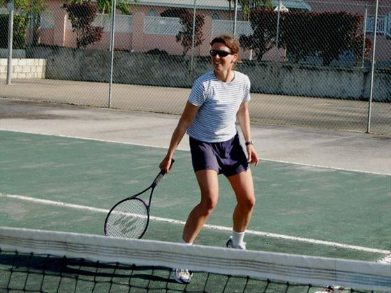 Tennis facilities at Barbados Beach Club