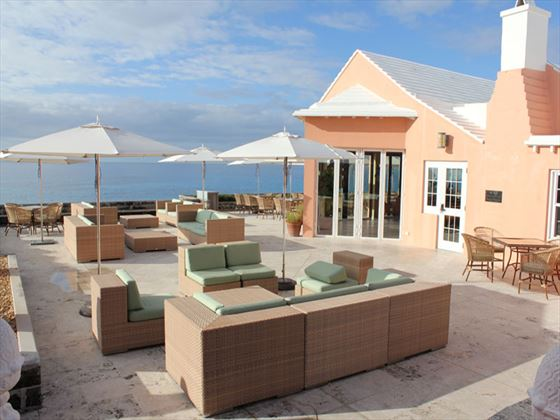 Terrace lounge area at The Reefs