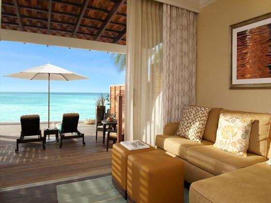 The Fairmont Royal Pavilion Beachfront Junior Suite living room