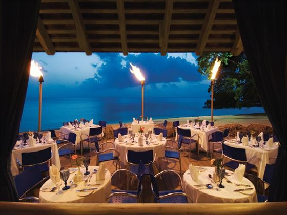 The Reef restaurant at Almond Beach Resort