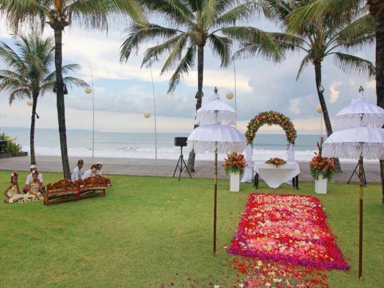 The Samaya Seminyak wedding setting