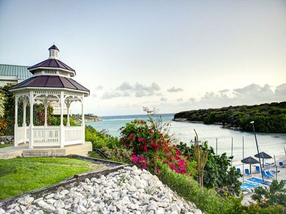 Wedding gazebo overlooking the beach