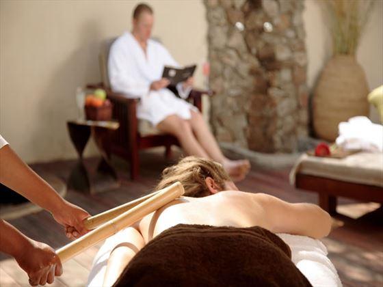 Thornybush Game Lodge Amani Spa bamboo massage