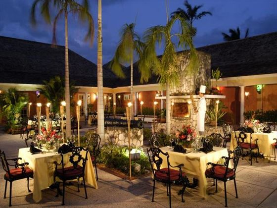 Three Palms restaurant at Hilton Rose Hall Resort & Spa Hotel