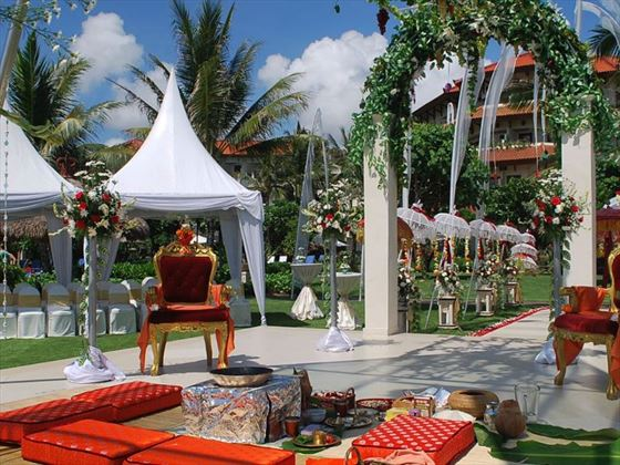 Traditional setting within the resort