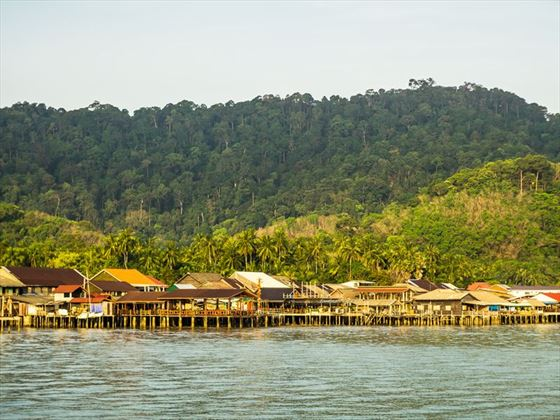 Traditional fishing stilt houses in Koh Lanta