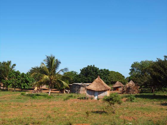 Traditional grass huts, Bazaruto
