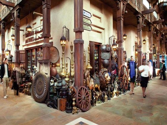 Traditional souk shopping at Madinat Jumeirah
