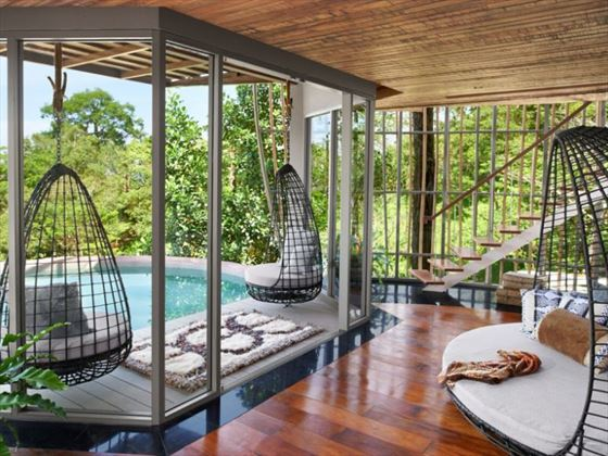 Tree Pool House interior