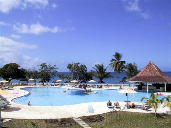 Turtle Bay Tobago pool view