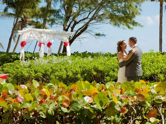 Beautiful garden wedding at Turtle Beach