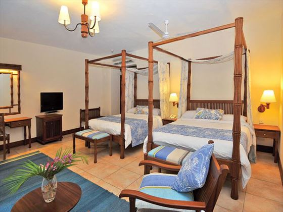 Twin bedroom at Baobab Beach Resort