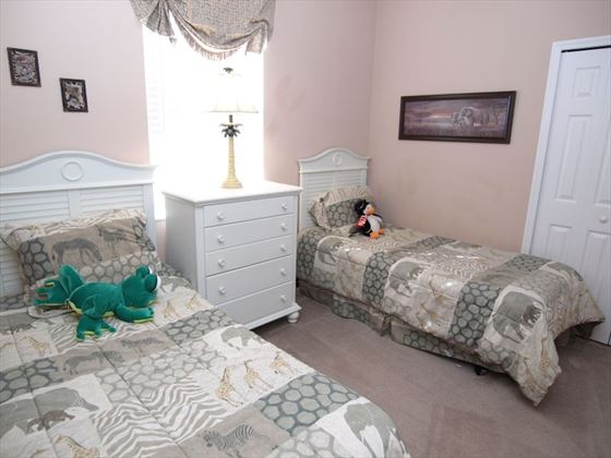 Twin room at West Haven Homes
