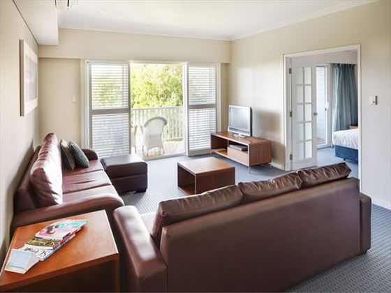 Two-Bedroom Apartment lounge at Seashells Yallingup Resort