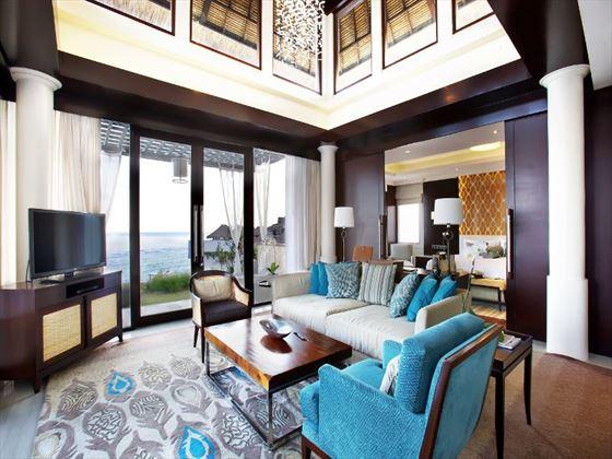 Two-Bedroom Ocean Pool Villa living room at Samabe