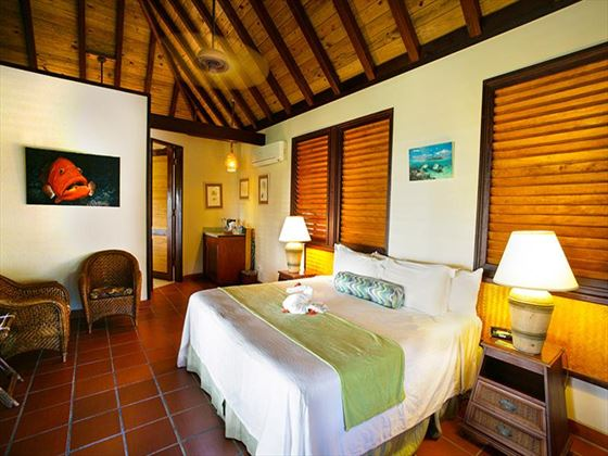 Typical bedroom at Palm Island