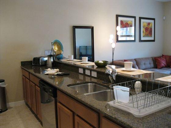 Typical Disney Area Platinum Town Home kitchen