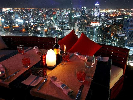 View from the Red Sky Bar at Centara Grand at CentralWorld