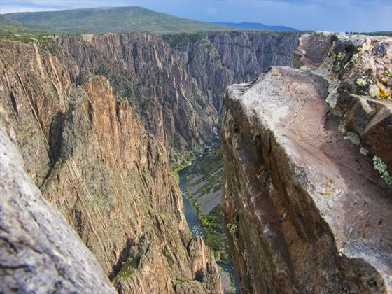 View from the top of Black Canyon of the Gunnison