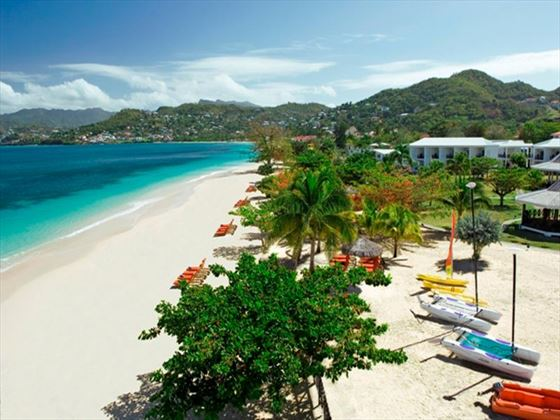 View of Grand Anse Beach at Coyaba Beach Resort
