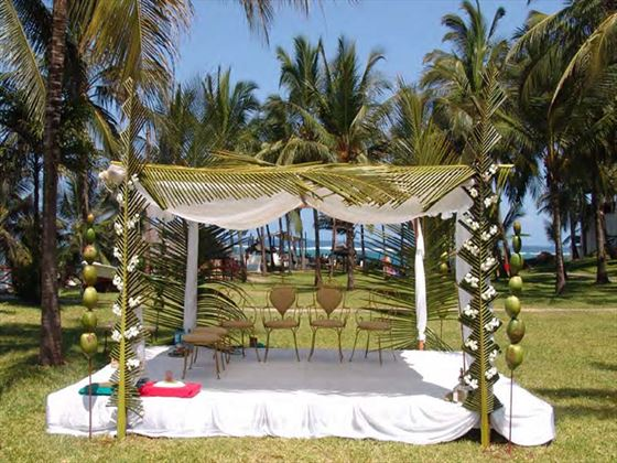 Wedding venue at Voyager Beach Resort