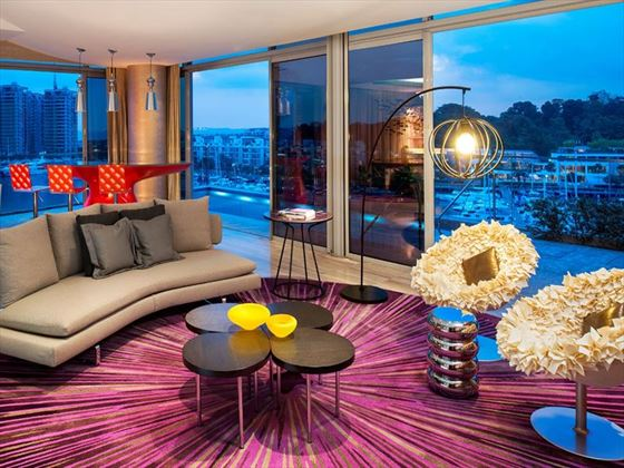 W Singapore – Sentosa Cove, Wow Suite living room