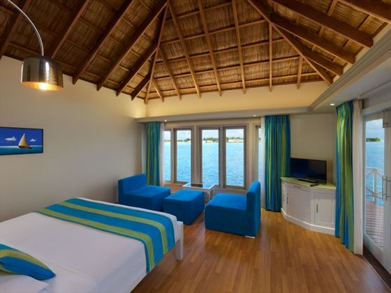 Water Bungalow Interior