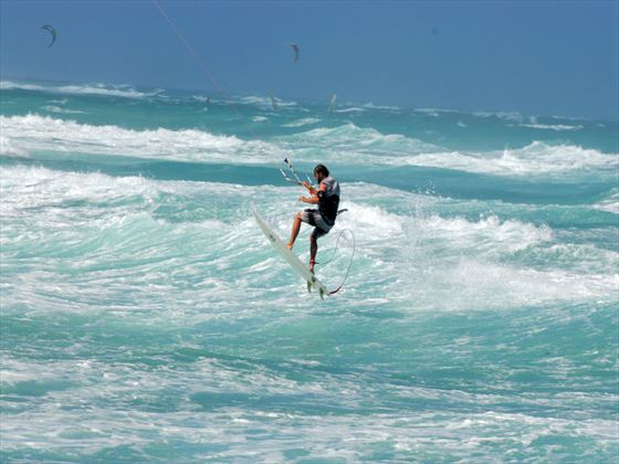 Water skiing activities at Silverpoint Hotel