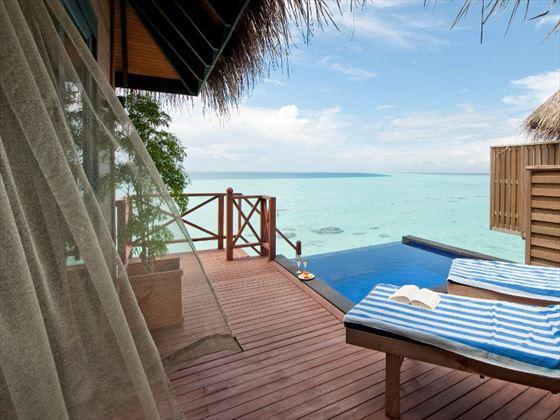 Water Villa with pool at Vilu Reef Beach & Spa Resort